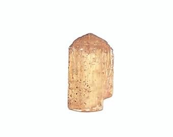 Topaz Gem Crystal Imperial Precious Topaz Gemstone Talisman Golden Orange Terminated Crystal November Birthstone Wear it or Display it