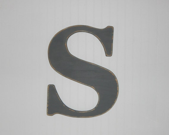 5 inch wooden letters large wooden letter s or any letter distressed 23 5 inch wood 20222 | il 570xN.1070460208 sxcd