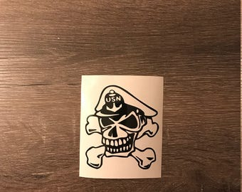 US Navy Chief Vinyl Decal, Navy CPO Skull, Yeti Decal, Laptop Decal, Cell Phone Sticker, Car Decal