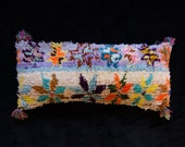 Vintage Moroccan Lumber Lavender Purple Pillowcase Boucherouite Pillow Decorative Pillow Boho Decor