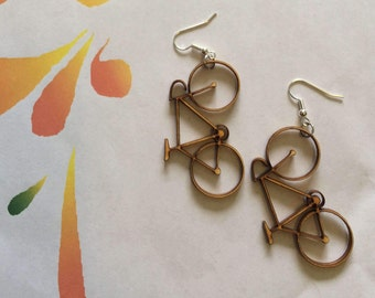 Bicycle Earrings Laser Cut Wood Earrings Bicycle Jewelry