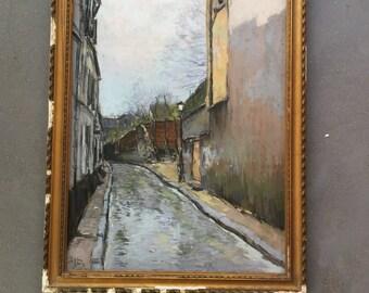 Paris painting. Superb pastel .