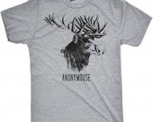 MENS Anonymoose T-shirt Funny Animal Design, Moose, Cool Shirt, Nature, Winter, Christmas Gift, Guys, Hunter, Boyfriend, Husband