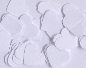 Confetti | Table Scatter | White Hearts | Valentines Day | Romantic | Wedding | 100 pieces | One inch