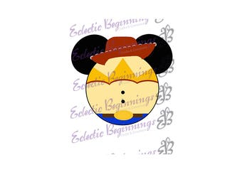 Disney Digital File, DIY Print Iron On-Disney Toy Story Jesse Mickey Ears JPG File