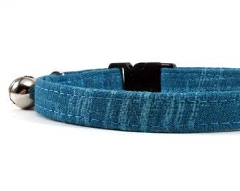 Cat Collar, Small Dog Collar, Turquoise