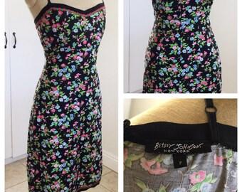 Betsey Johnson SEXY summer dress w/ flowers  size Small