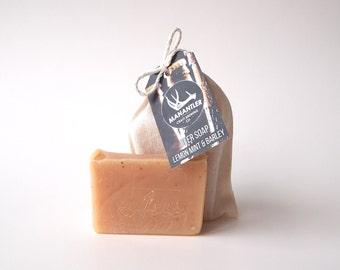 Manantler Lemon + Mint Beer Soap, All natural soap, Craft Beer, handmade soap, Beer Soap