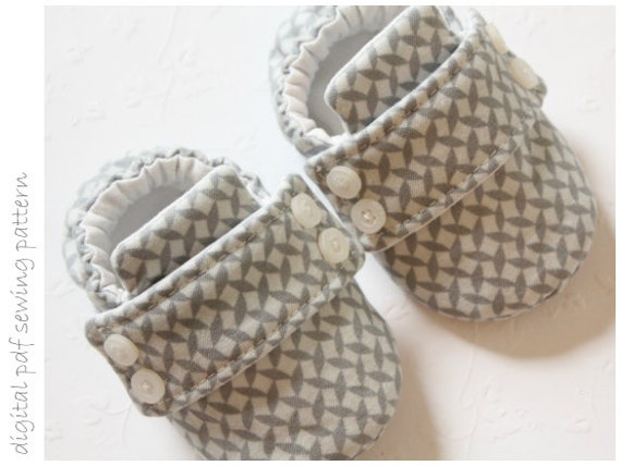 Baby Shoe Pattern - Loafers - Sizes 1 to 5