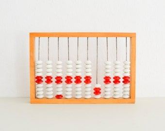 Vintage abacus counting frame teaching material East German GDR 60s