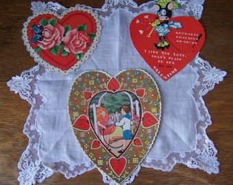vintage valentines day cards set of 3romantic valentines day decorvintage valentine - Vintage Valentine Decorations