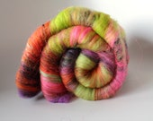 Art Batt - 'Don't drink 'n Puff' - Merino, Silk, Nylon, Sari Silk, Nepps and Sparkle - Spinning Mermaid - 3.6 oz