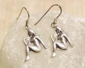 Virgo Earrings, Sterling Silver Astrology Earrings, Zodiac Signs Jewelry