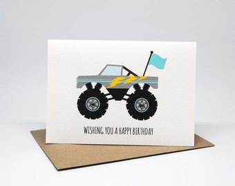 Birthday Card Boy - Monster Truck - HBC227 / Wishing you a Happy Birthday for the Birthday Boy