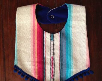 Boho Serape Bib, Unisex, Baby Gift, Mexican Blanket Bib