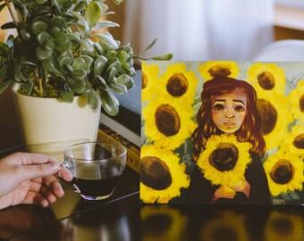 Sunflower Girl | 8x10 Print