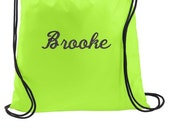 Personalized Bags, Drawstring Bag, Cinch Bags, Overnight Bags, Gifts for Kids, Kids Gifts, Gym Backpack, Book Bag, Personalized Gifts, BG615