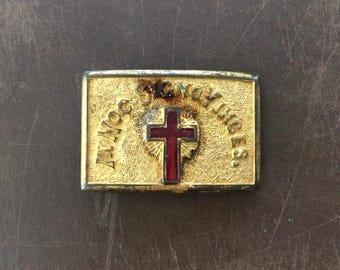 Cross Belt Buckle - Vintage Brass Buckle