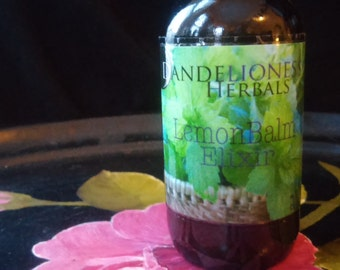 Lemon Balm Elixir: Relaxing + Tonic for the Nervous System with Local Honey 2 oz