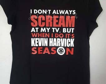 I Don't Always Scream at my TV, but when I do it's Kevin Harvick Season Shirt, Kevin Harvick, NASCAR, Women's Shirt, Racing Shirt, Racer