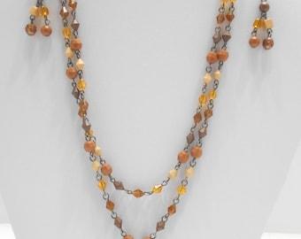 Vintage Claire's Demi Parure (8313) Necklace & Pierced Earrings