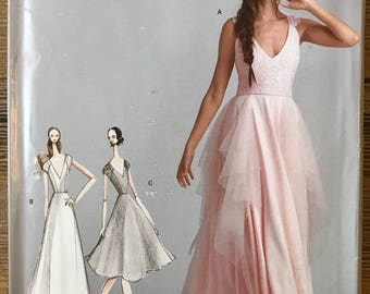 UNCUT Simplicity 8289 Dress Sewing Pattern Size 12-14-16-18-20 Formal Prom, Wedding, Ball Gown, Long Dress, Leanne Marshall, Plus Size