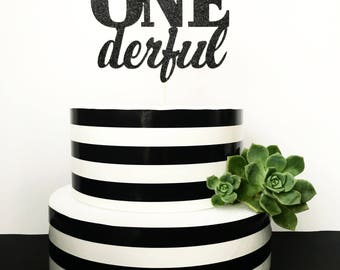 Mr Onederful cae topper- first birthday topper- little man cake topper