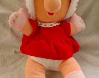 1987 Mcdonalds Collectors Christmas plush Muppet baby Miss Piggy in a Red coat FREE SHIPPING!!