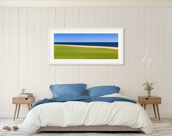 Framed Wall Art Abstract Beach Photography Nantucket Photo Sconset Nautical Decor Coastal Artwork Panoramic Print