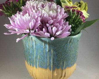 Pottery Vase, Flower Vase, Ceramic Vase, Textured Vase, Handmade Vase, Flower Pot