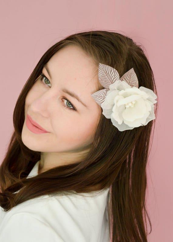 Silk Rose Hair Clip