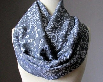 Heather grey scarf, pashmina,  delicate paisley scarf, gray scarf, grey scarf, soft and silky scarf