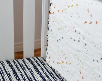 Organic Crib Sheet in Wood Dusk
