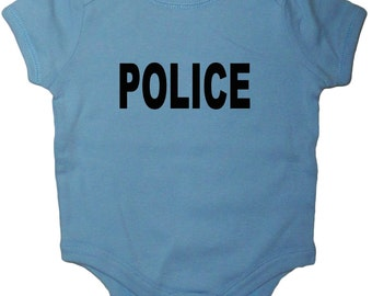 Police baby shirt for infant bodysuit romper one piece tee uniform costume
