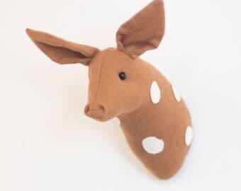 Deer fawn Faux taxidermy baby deer fawn head decoration taxidermy animal head wall decor