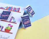 Books are my Happy Place - Hand Lettered Enamel Pin
