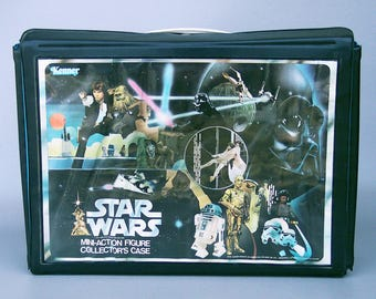 Vintage 1978 Star Wars Action Figure Case with Both Trays