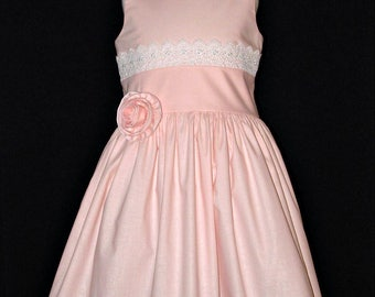 Girls special occasion Easter church dress spring summer pink size 8 ready to ship MADE in the USA