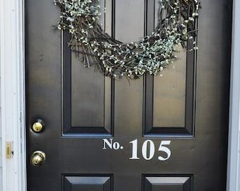 Vinyl House Numbers-Front door decal-House Numbers for Front Door-Porch Numbers-Door Decal-Entryway Decor-Address Door Numbers