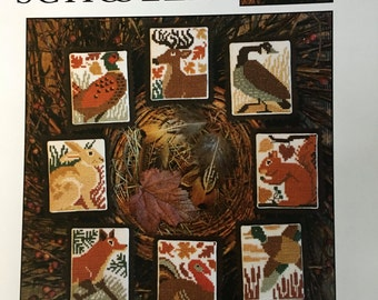 """Prairie Schooler """"Fall Fields"""" Cross Stitch Chart"""