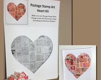 Heart Postage Stamp Art Kit