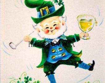 St. Patrick's Day Digital Image Download Printable Leprechaun