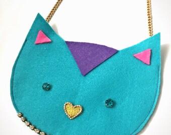 LilTUCK Kitty Animal Purse - Little Girls Cute Cat Kitten Designer Kids Luxe Handbag Purse.. Cute gift idea! by Tuckbrand