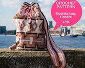 Mochila bag tutorial, Tapestry crochet pattern, Crochet tutorial, Medium size Mochila bag, Digital PDF, Instant download