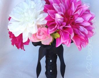 Kate Spade inspired. Pink bouquet. Wedding bouquet. bridal bouquet. YOUR COLORS. 2017 trends. Blush bouquet. Silk bouquet. Bridesmaids. Toss