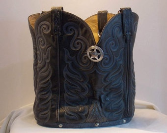 Gray Tony Lama boot purse