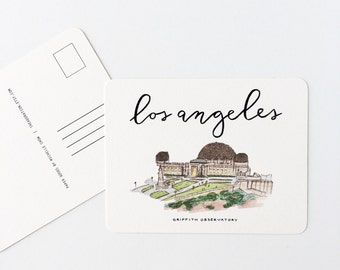 Los Angeles, California Postcard (Griffith Observatory)