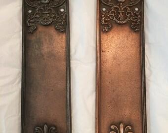 Antique Sargent & Co Cast Bronze Push Plates