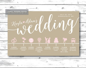 wedding itinerary wedding timeline order of events schedule of events guest timeline