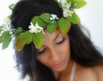 Rustic Flower Headpiece, Flower Crown, Floral Headband